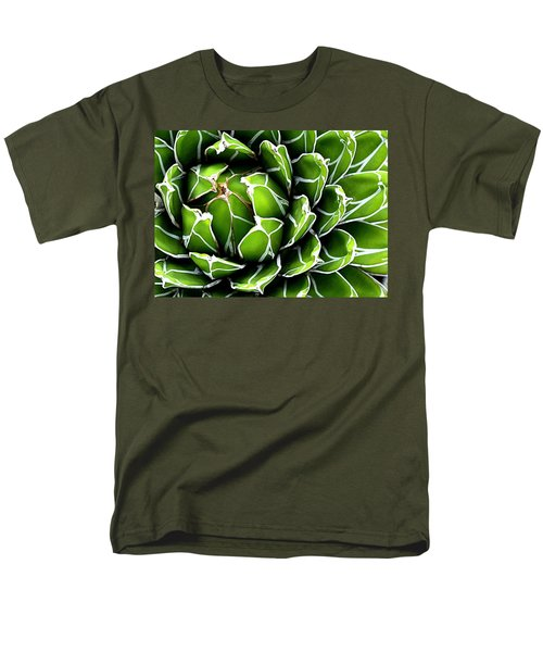 Men's T-Shirt  (Regular Fit) featuring the photograph Succulent In Color by Ranjini Kandasamy