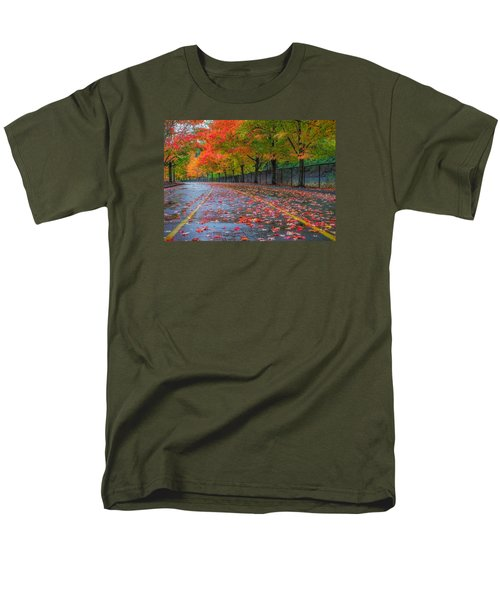 Sugar Maple Drive Men's T-Shirt  (Regular Fit) by Ken Stanback