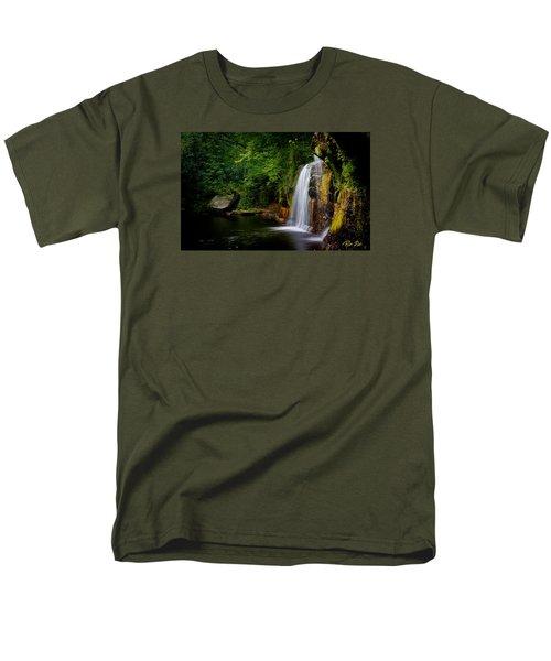 Men's T-Shirt  (Regular Fit) featuring the photograph Summer At Wolf Creek Falls by Rikk Flohr