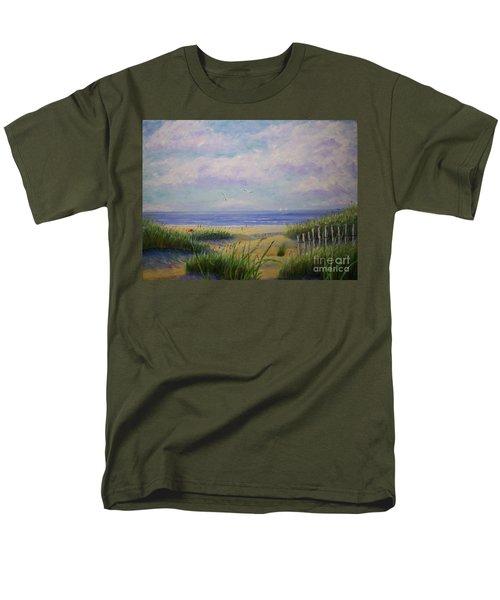 Summer Day At The Beach Men's T-Shirt  (Regular Fit) by Stanton Allaben