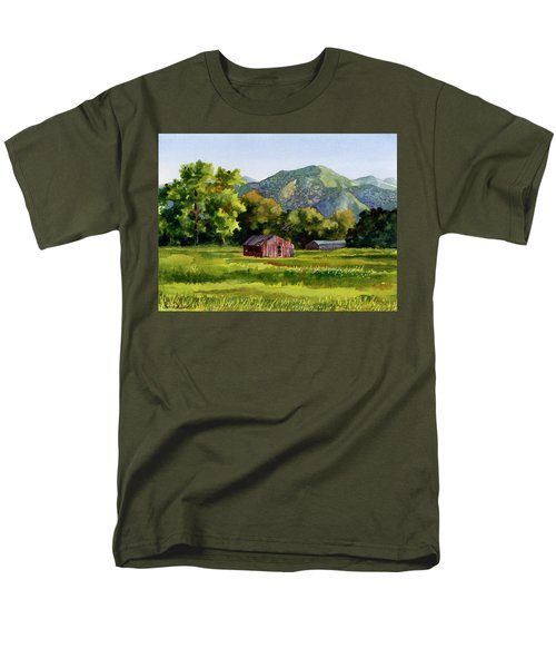 Men's T-Shirt  (Regular Fit) featuring the painting Summer Evening by Anne Gifford