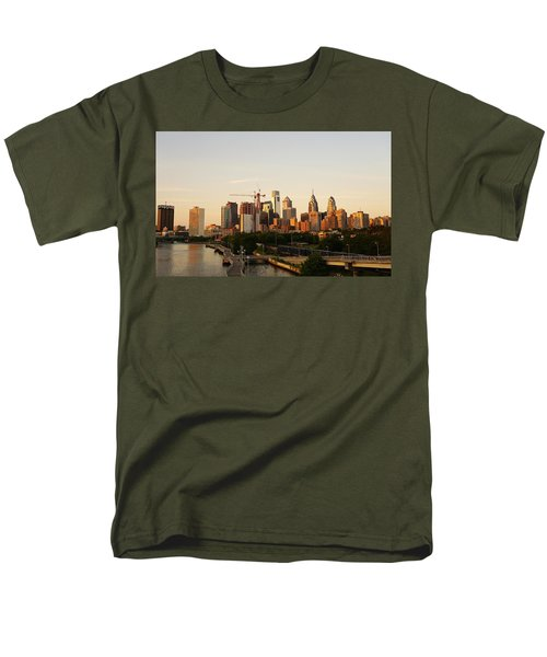Summer Evening In Philadelphia Men's T-Shirt  (Regular Fit) by Ed Sweeney