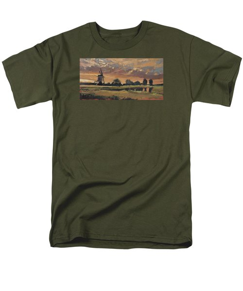 Men's T-Shirt  (Regular Fit) featuring the painting Summer Evening In The Polder by Nop Briex