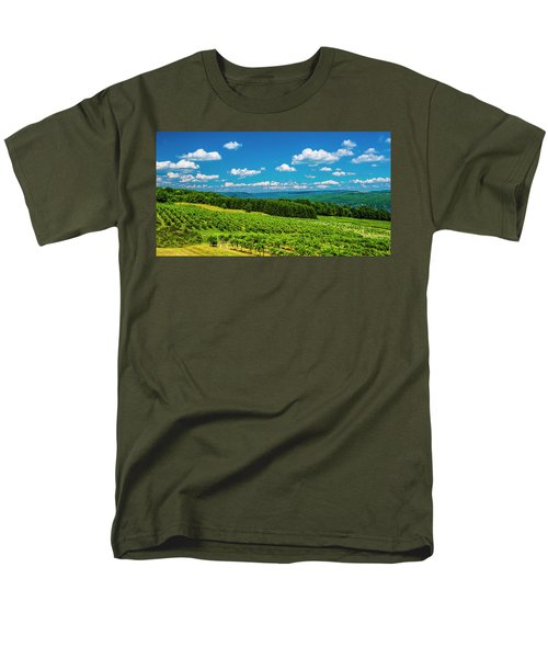 Men's T-Shirt  (Regular Fit) featuring the photograph Summer Fields by Steven Ainsworth