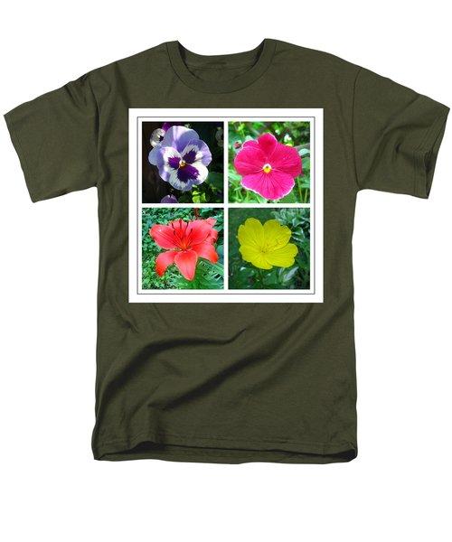 Summer Flowers Window Men's T-Shirt  (Regular Fit) by Maciek Froncisz