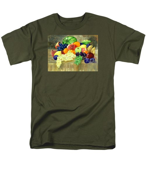 Men's T-Shirt  (Regular Fit) featuring the painting Summer Harvest by Sharon Mick