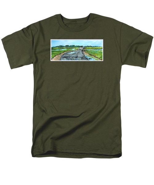 Men's T-Shirt  (Regular Fit) featuring the painting Summer On Lieutenant's Island by Rita Brown