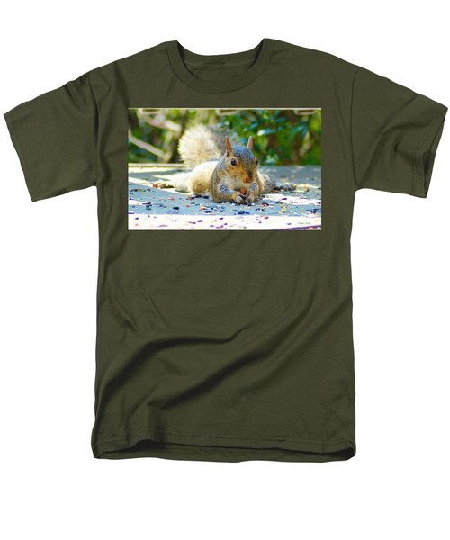 Sun Bathing Squirrel Men's T-Shirt  (Regular Fit) by Kathy Kelly