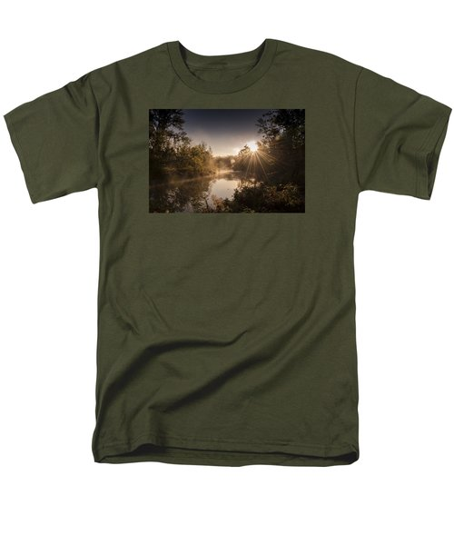 Men's T-Shirt  (Regular Fit) featuring the photograph Sunbeams  by Annette Berglund