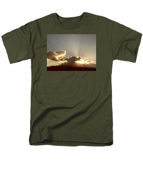 Men's T-Shirt  (Regular Fit) featuring the photograph Trumpeting Triumphantly Sunrise by Deborah Moen