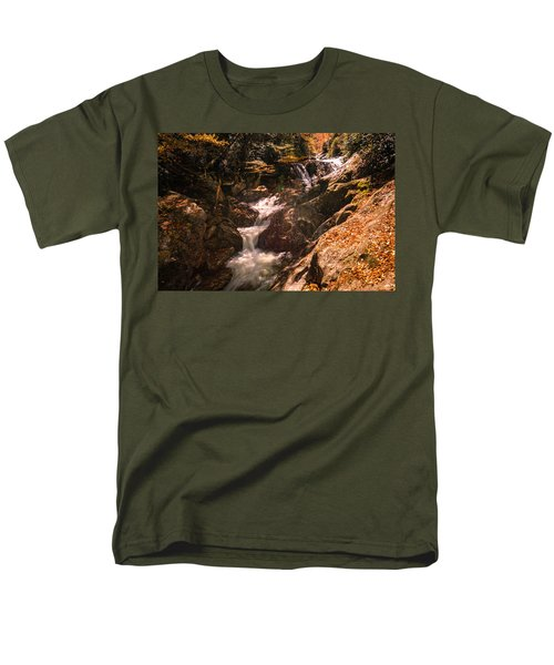 Men's T-Shirt  (Regular Fit) featuring the photograph Sunburst Falls by Cathy Donohoue