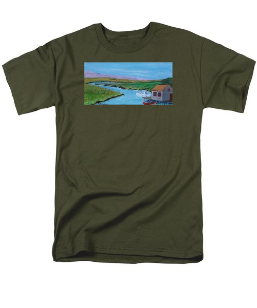 Sunday Afternoon On The California Delta Men's T-Shirt  (Regular Fit) by Mike Caitham