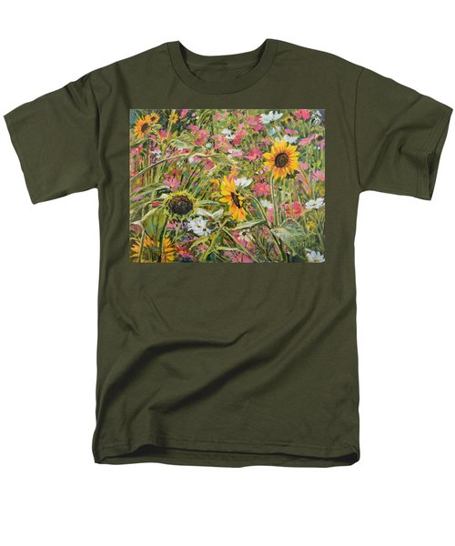 Sunflower And Cosmos Men's T-Shirt  (Regular Fit) by Steve Spencer