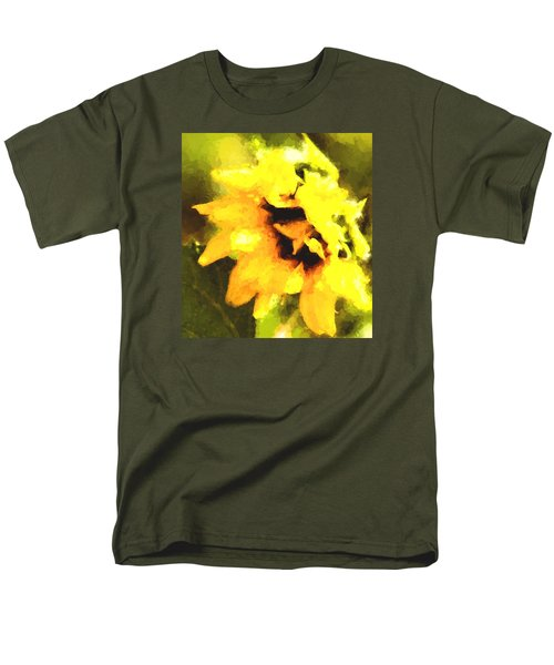 Men's T-Shirt  (Regular Fit) featuring the photograph Sunflower by Cathy Donohoue