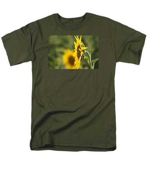 Men's T-Shirt  (Regular Fit) featuring the photograph Sunflower Delight by Kathy Churchman
