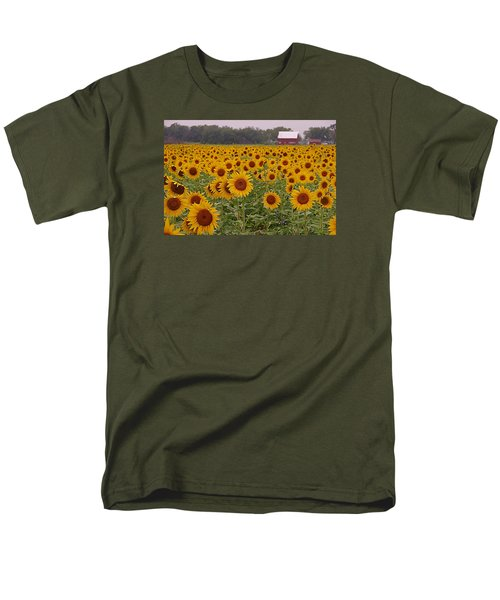 Sunflower Field One Men's T-Shirt  (Regular Fit) by Karen McKenzie McAdoo