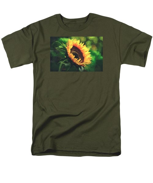 Men's T-Shirt  (Regular Fit) featuring the painting Sunflower by Rose-Maries Pictures