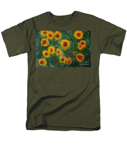 Sunflowers Men's T-Shirt  (Regular Fit) by Lynne Reichhart