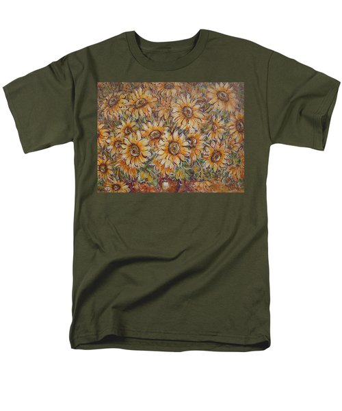 Men's T-Shirt  (Regular Fit) featuring the painting Sunlight Bouquet. by Natalie Holland