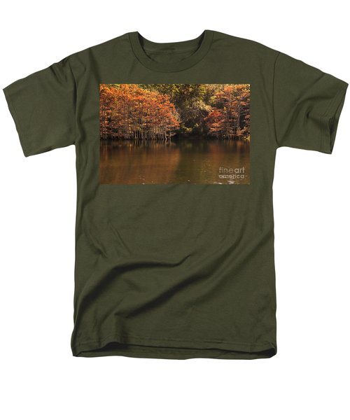 Men's T-Shirt  (Regular Fit) featuring the photograph Sunlit Cypress Trees On Beaver's Bend by Tamyra Ayles