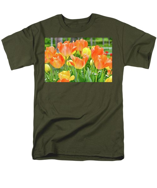 Men's T-Shirt  (Regular Fit) featuring the photograph Sunny Tulips by David Lawson