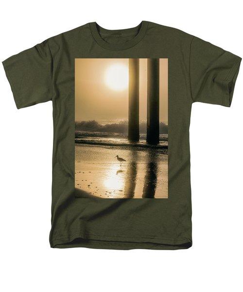 Men's T-Shirt  (Regular Fit) featuring the photograph Sunrise Bird At Beach  by John McGraw