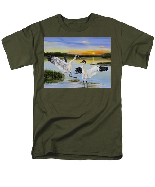 Sunrise Whooping Cranes Men's T-Shirt  (Regular Fit) by Phyllis Beiser