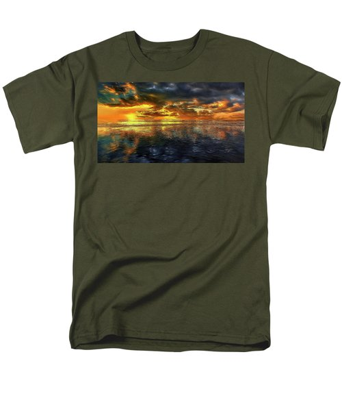 Sunset #95 Or Sunset Over The Atlantic. Men's T-Shirt  (Regular Fit) by Alex Galkin