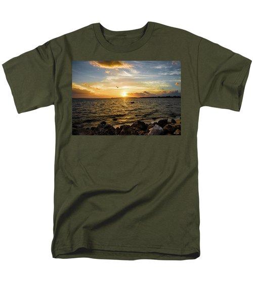 Men's T-Shirt  (Regular Fit) featuring the photograph Sunset At Cedar Key by Rebecca Hiatt