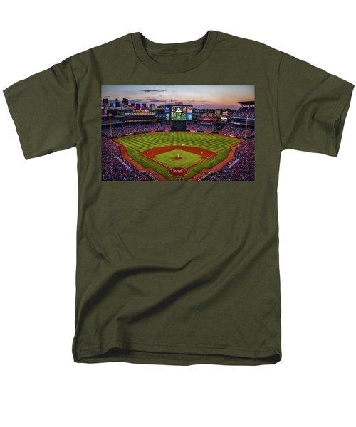 Sunset At Turner Field - Home Of The Atlanta Braves Men's T-Shirt  (Regular Fit)