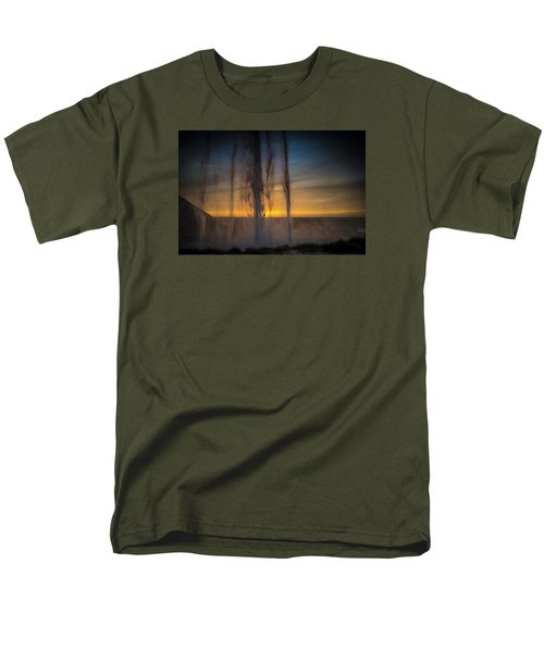 Sunset Behind The Waterfall Men's T-Shirt  (Regular Fit) by Chris McKenna