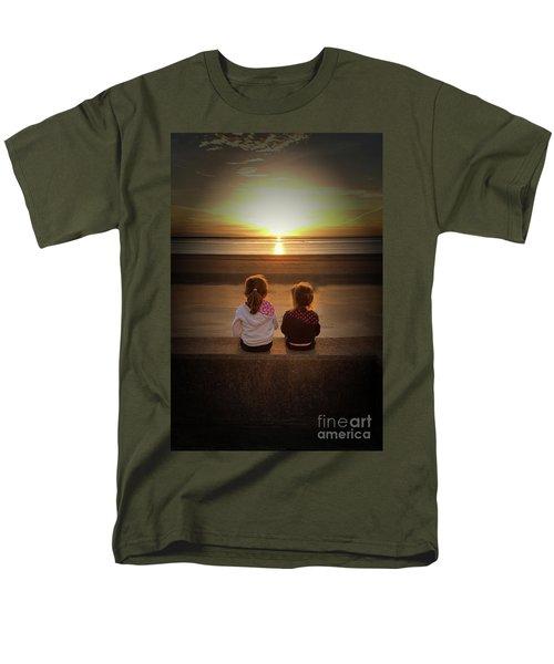 Sunset Girls Men's T-Shirt  (Regular Fit) by Lynn Bolt