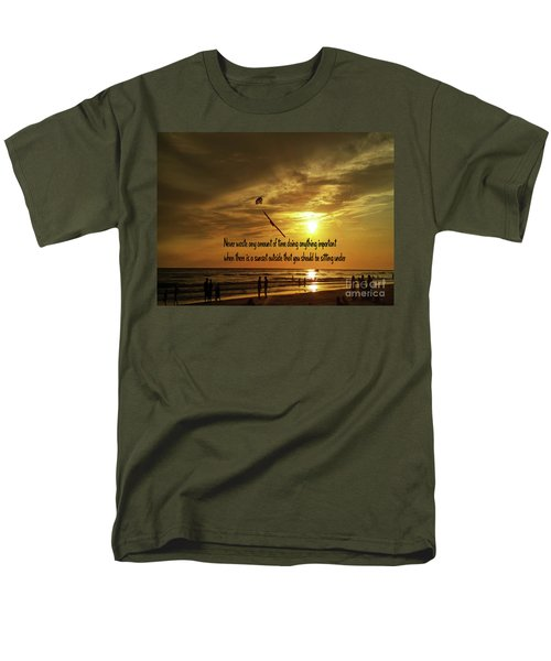 Sunset On The Beach Men's T-Shirt  (Regular Fit) by Gary Wonning