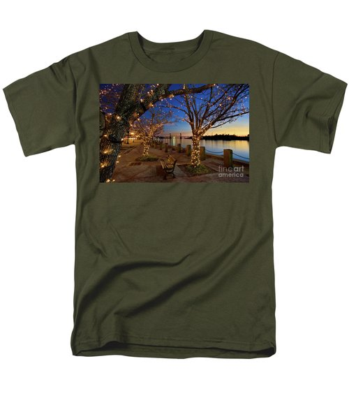 Sunset Over The Wilmington Waterfront In North Carolina, Usa Men's T-Shirt  (Regular Fit) by Sam Antonio Photography