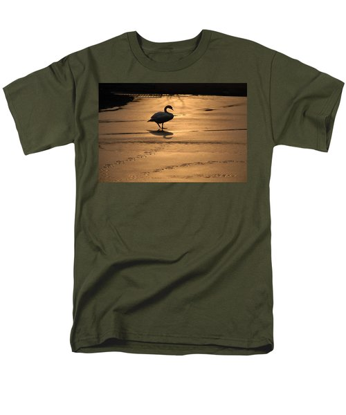 Men's T-Shirt  (Regular Fit) featuring the photograph Sunset Swan by Richard Bryce and Family