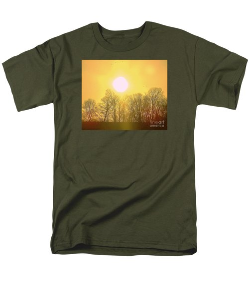 Sunset Yellow Orange Men's T-Shirt  (Regular Fit) by Shirley Moravec
