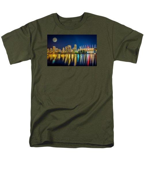Super Moon Over Vancouver  Men's T-Shirt  (Regular Fit) by Sabine Edrissi