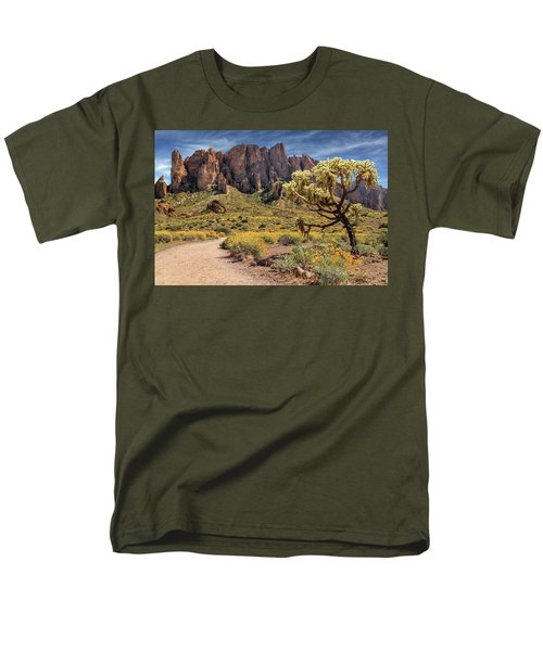 Superstition Mountain Cholla Men's T-Shirt  (Regular Fit) by James Eddy