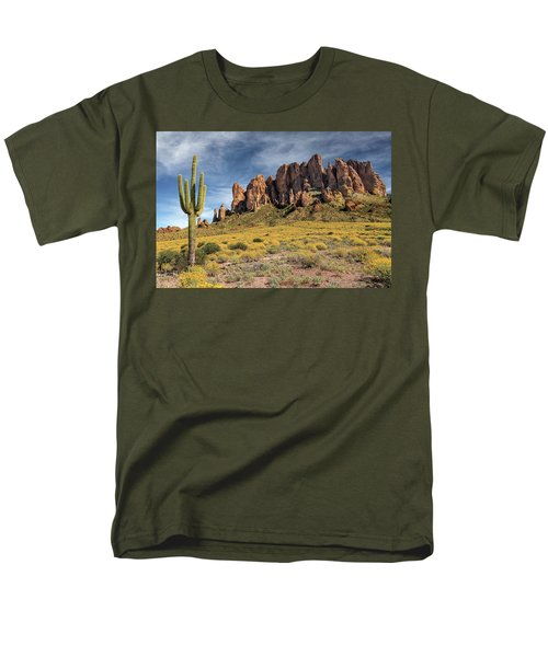 Men's T-Shirt  (Regular Fit) featuring the photograph Superstition Mountains Saguaro by James Eddy