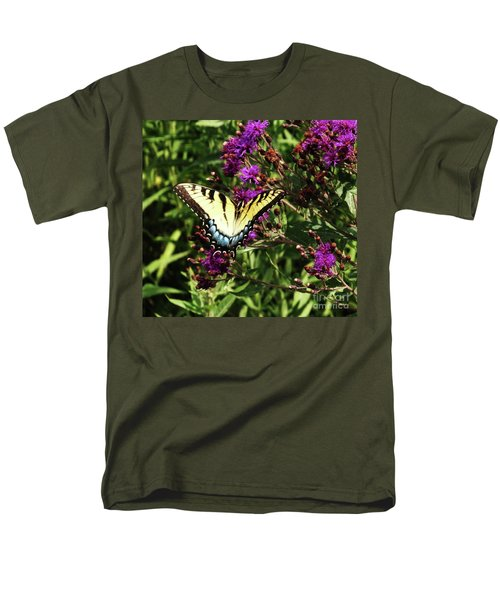 Men's T-Shirt  (Regular Fit) featuring the photograph Swallowtail On Butterfly Weed by J L Zarek