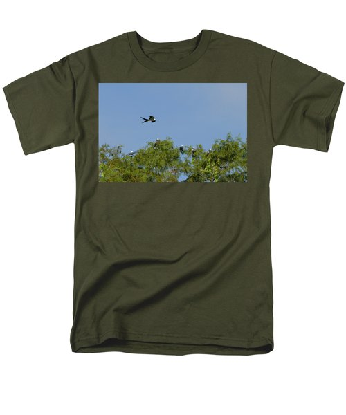 Swallow-tailed Kite Flyover Men's T-Shirt  (Regular Fit) by Paul Rebmann