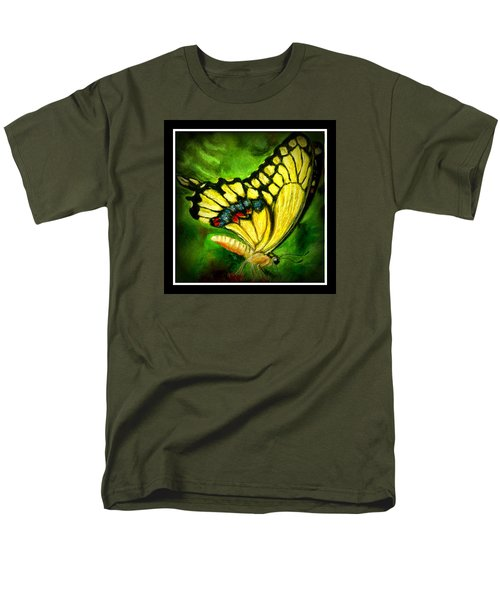 Men's T-Shirt  (Regular Fit) featuring the pastel Swallowtail by Antonia Citrino
