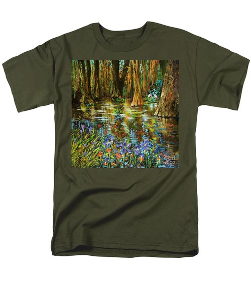 Men's T-Shirt  (Regular Fit) featuring the painting Swamp Iris by Dianne Parks
