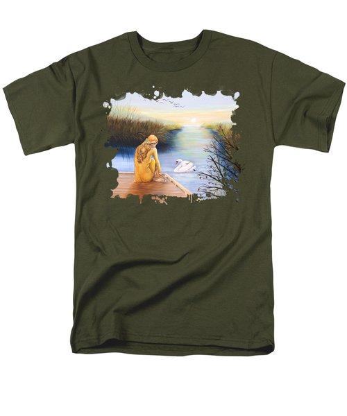 Swan Bride T-shirt Men's T-Shirt  (Regular Fit) by Dorothy Riley