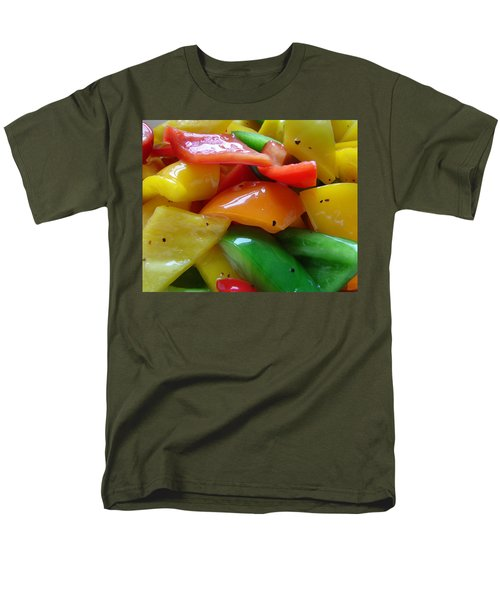 Men's T-Shirt  (Regular Fit) featuring the digital art Sweet Peppers by Jana Russon
