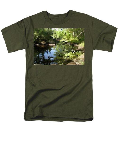 Swimmin' Hole Men's T-Shirt  (Regular Fit) by Betsy Zimmerli