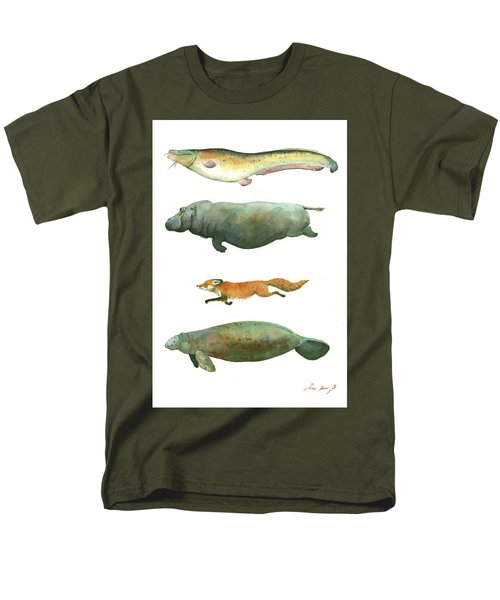 Swimming Animals Men's T-Shirt  (Regular Fit) by Juan Bosco