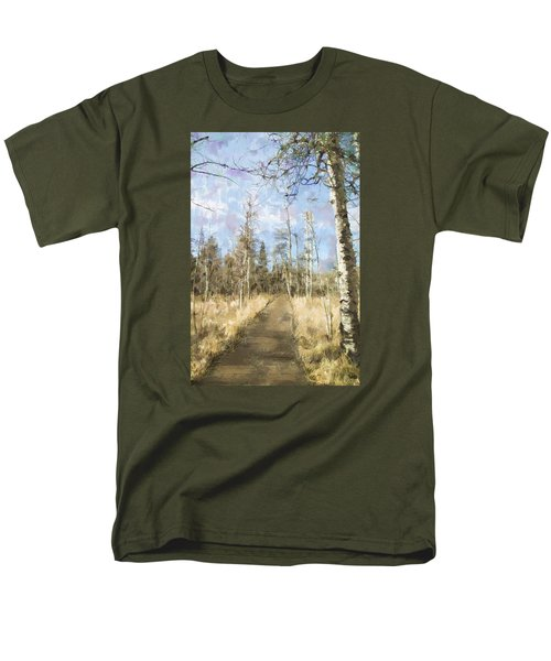 Men's T-Shirt  (Regular Fit) featuring the painting Take A Walk by Annette Berglund