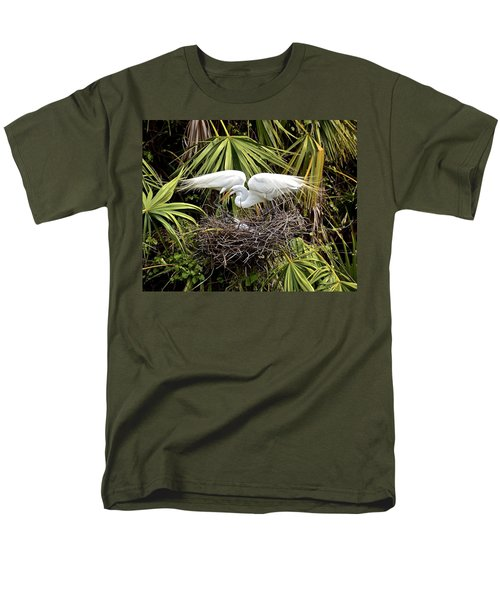 Taking Care Of Two Fuzzy Headed Babies Men's T-Shirt  (Regular Fit)