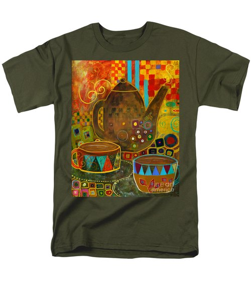 Tea Party With Klimt Men's T-Shirt  (Regular Fit) by Robin Maria Pedrero